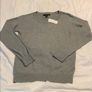 Grey long sleeve sweater for women